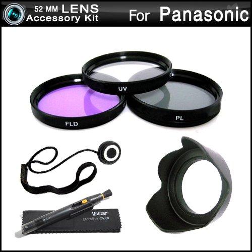 Vivitar 52mm Filter Kit For Panasonic Lumix DMC-FZ150K DMC-FZ150 Digital Camera Includes 52mm Multi-Coated 3 PC Filter Kit (UV, CPL, FLD) + LensPen Cleaning Kit + Lens Cap Keeper + Microfiber Cleaning Cloth