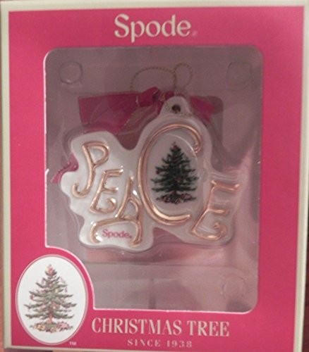 Spode Christmas Tree Peace Disk Ornament