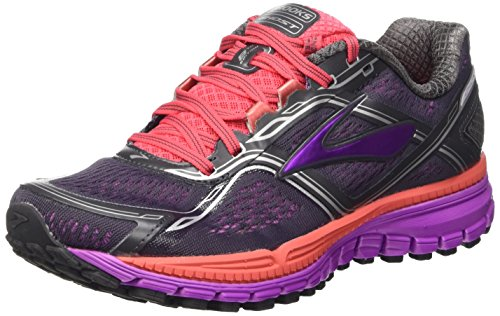 Brooks Ghost 8 W, Zapatillas de Running Para Mujer, Anthracite/Purple Cactus Flower, 38 EU