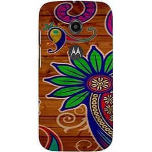 Casotec Pattern Texture Colorful Background Design 3D Printed Hard Back Case Cover for Motorola Moto E 2nd Generation