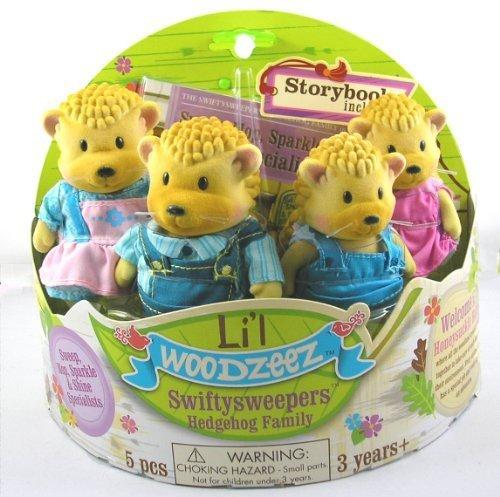 Li'l Woodzeez Swiftysweepers Hedgehog Family by Battat