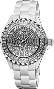 (炫耀) Akribos XXIV AKR457WT 钻石瑞士机芯女士陶瓷腕表 $152.99