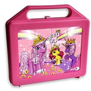 Schauen Sie sich Kundenbewertung für Noris-Spiele 606037359 - Filly Unicorn 12er Würfelpuzzle-Koffer