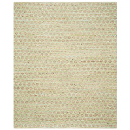 Safavieh Cape Cod Collection CAP820C Hand Woven Green and Natural Cotton Area Rug, 8 feet by 10 feet (8' x 10')