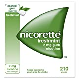 Nicorette GUM Freshmint 2mg 210 Count Box (Uk)
