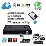 DVR IBRIDO NVR HVR SVR SDVR 8 CH CANALI FULL HD 960H CLOUD 3G WIFI PIU HARD DISK HD 500 GB GESTIBILE DA REMOTO REGISTRATORE VIDEOSORVEGLIANZA CONTROLLO WEB LAN VGA USB - Best Reviews Guide