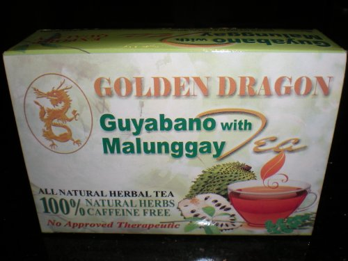 Golden Dragon Guyabano Malunggay Herbal Tea (Soursop Graviola & Moringa)