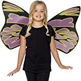 Smiffy's Kids Wings, Glow In The Dark, Black And Purple, One Size, 44289