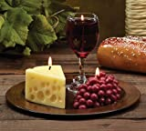 Pack of 3 – Merlot Scented Wine, Cheese & Grape Novelty Candle Gift Sets