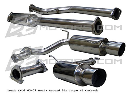 Tsudo 03-07 Accord LX / EX V6 Coupe EVO2 JDM catback exhaust