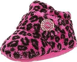 UGG Kids Baby Girl\'s Bixbee Leopard (Infant/Toddler) Princess Pink Leopard Slipper SM (US 2-3 Infant) M