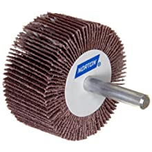 Norton Metalite R265 Abrasive Flap Wheel, Round Shank, Aluminum Oxide