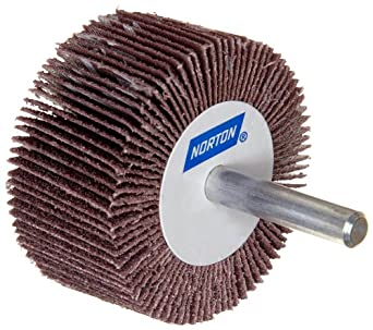 Norton Metalite R265 Abrasive Flap Wheel, Round Shank, Aluminum Oxide