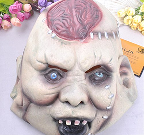 Halloween Mask Bar Decorative Props Super Horror Mask Devil Lantou Brain Explosion