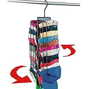 Hanging cap rack it spins and holds up to 40 for Hat organizer for closet