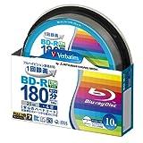 三菱化学メディア Verbatim BD-R LTH TYPE (ハードコート仕様) 1回録画用 25GB 1-4倍速 スピンドルケース 10枚パック ワイド印刷対応 ホワイトレーベル VLR130YP10SV1