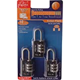 Advanced Henry Squire Combination Padlock Black 20mm (Pack of 3) (Eco Packaging)w/Min 3yr Cleva® Warranty