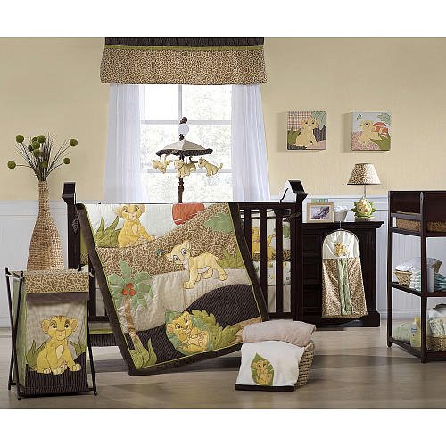 Baby Boy Bedding|Crib Bedding Sets for Boys|Nursery Bedding: Disney Lion King 4-Piece Crib ...