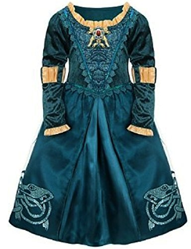 Disney Store Brave Princess Merida Adventure Hero Costume Dress Size XXS 2/3