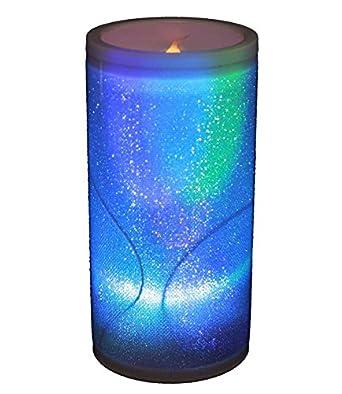 haac led kerze ledkerze lampe leuchte kerzelampe mit glitter farbwechsel regenbogenfarbwechsel. Black Bedroom Furniture Sets. Home Design Ideas