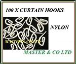 100 curtain hooks
