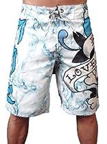New Ed Hardy Love Kills Slowly White Board Shorts Swim Surf Trunks (31)