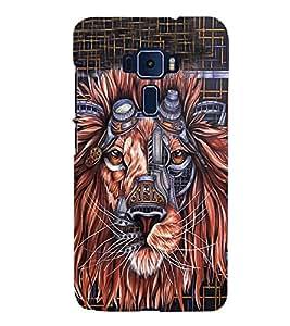 Animated Lion 3D Hard Polycarbonate Designer Back Case Cover for Asus Zenfone 3 Deluxe ZS570KL
