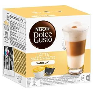 Order Nescafé Dolce Gusto Latte Macchiato Vanilla, 16 Capsules (8 Servings) by Nestlé