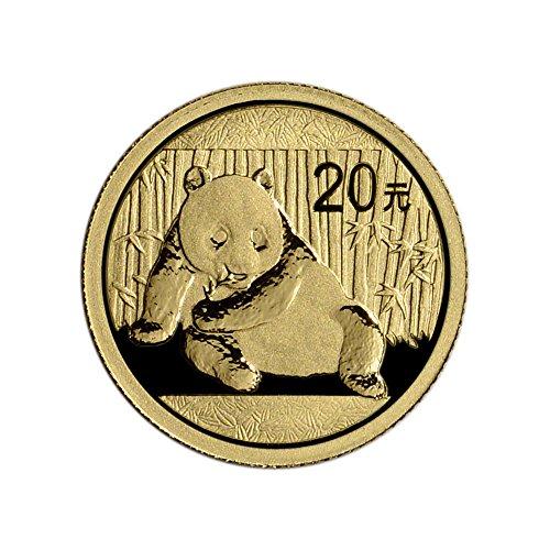 2015 CN China Gold Panda (1/20 oz) 20 Yn BU China Mint