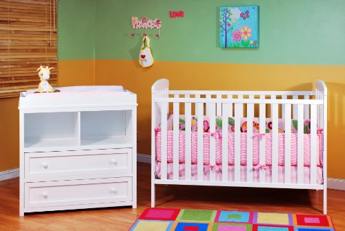 Check Out This Athena Leila 2 Piece Nursery Set, White