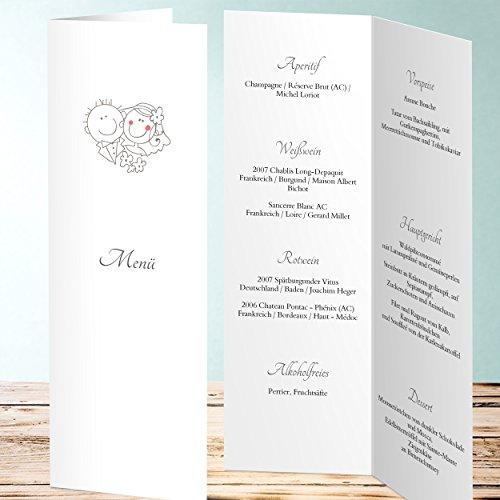Hochzeit, Traumpaar 70 Karten, Vertikale Klappkarte 100×300, Grau