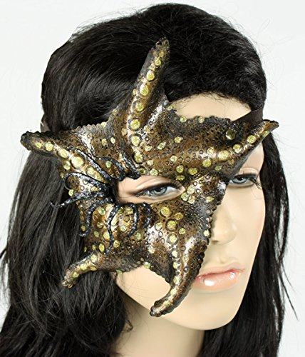 Handcrafted Leather Starfish Mask