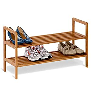 Amazon Com Honey Can Do Sho 01600 Bamboo 2 Tier Shoe