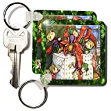 Sandy Mertens Vintage Christmas Designs - Vintage Helping Elves - Key Chains