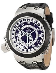 Invicta Men's 10004 Russian Diver Reserve Black Dial Black Leather Watch