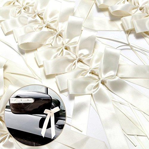 FENICAL Archi del 50pcs matrimonio Pew fine Bowknots nastro auto sedie decorazioni natale decorazioni