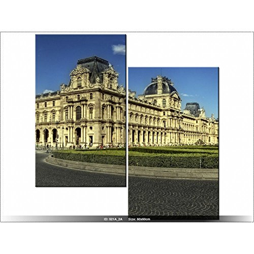 "Art Gallery XXL, 60 x 60 cm, PaRIS ""LOUVRE Ölmalfarben-Tabelle-teilig MULTI-Modern-DECO-NEW DESIGN"