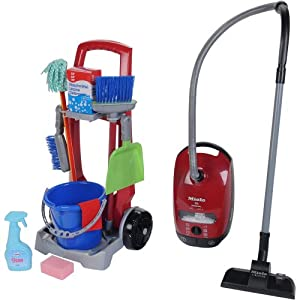 Amazon Com Theo Klein Toy Cleaning Trolley Miele Vacuum
