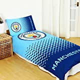 Manchester City FC Fade Reversible Single Duvet Cover and Pillow Case Set