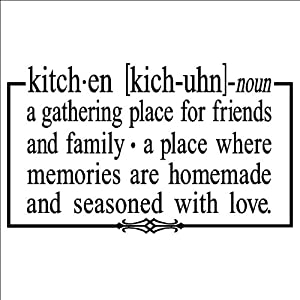 Amazon.com: Kitchen a gathering place for friends and family 12.5