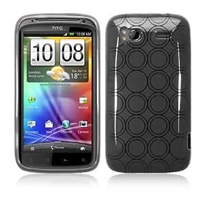 ORIGINAL iProtect HTC Sensation Dual-Circle Silicon Tasche Hülle / Sensation Schutzhülle TPU grau