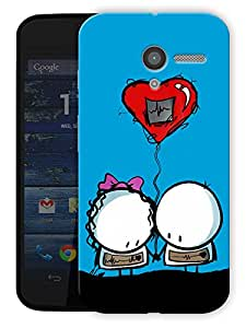 "Cartoon Love Printed Designer Mobile Back Cover For ""Motorola Moto X"" By Humor Gang (3D, Matte Finish, Premium Quality, Protective Snap On Slim Hard Phone Case, Multi Color)"