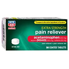 Rite Aid Extra Strength Pain Reliever 50ct Tablets