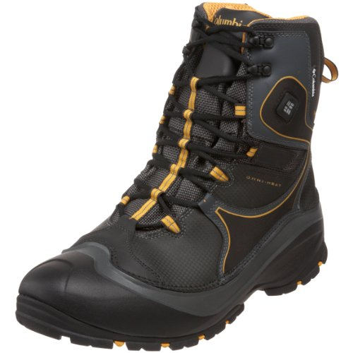 Columbia Men's BM1451 Bugathermo Techlite Snow Boot,Black/Treasure,12 M US
