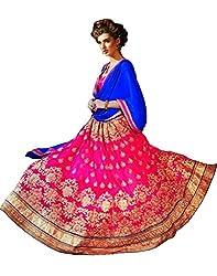 DesiButik's Wedding Wear Ravishing Gajri Net Lehenga