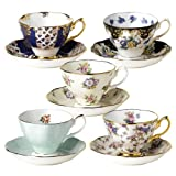 Royal Albert 100 Years of Royal Albert Teacups and Saucers, Set of 5, 1900-1940 Best Deals