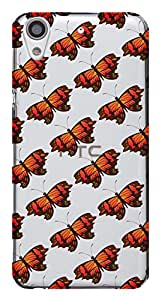 WOW Transparent Printed Back Cover Case For HTC Desire 626