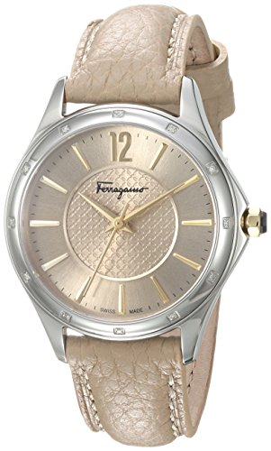 Salvatore-Ferragamo-Womens-Time-Swiss-Quartz-Stainless-Steel-and-Leather-Casual-Watch-ColorWhite-Model-FFV020016
