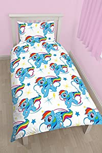 "Character World 91 cm Single ""My Little Pony Dash"" Rotary Duvet Set Repeat, Multi-Colour"