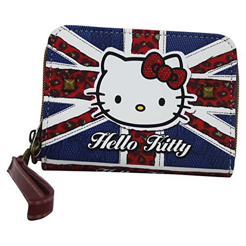 Hello Kitty England Flag Portafoglio Donna Portamonete portadocumenti